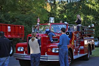 The Glenbrook Fire Department's vintage truck