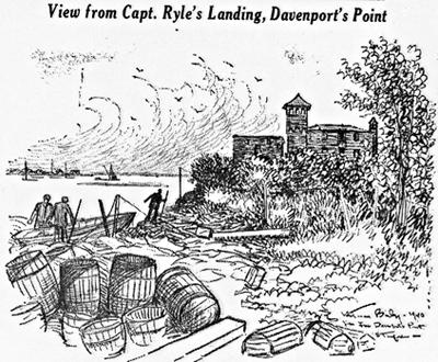 View From Capt. Ryles Landing, Davenport's Landing