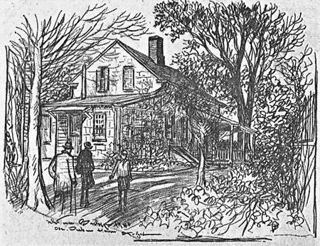 Daskam House on Broad Street from Rear Yard, December 28, 1940