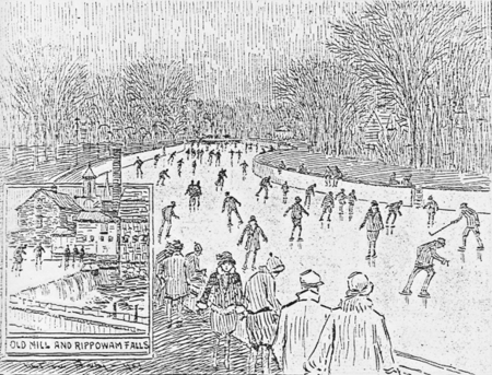 Artist's View of Skating Scene at Rippowam Park