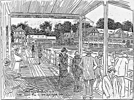 Artist's View of Stamford Yacht Club from Pier