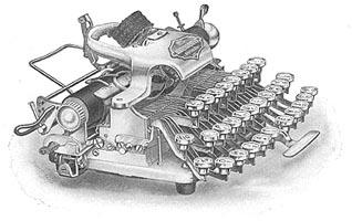 Blickensderfer portable typewriter