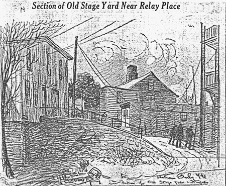 Section of Old Stage Yard near Relay Place