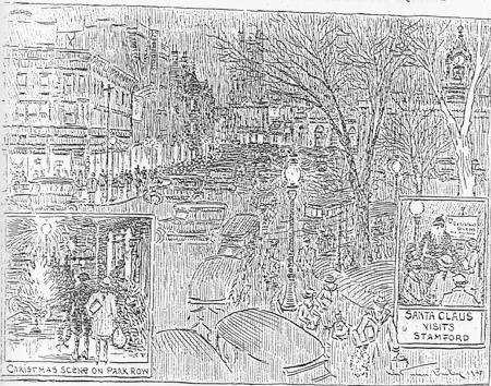 Artist's Impression of Christmas Eve on Atlantic Street