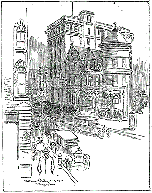Busy Scene at Main and Bank Streets, 1925 for complete image, pdf file