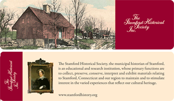 Stamford Historical Society Bookmark, front and back view