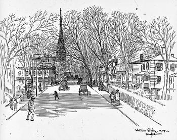 Broad Street looking West to corner of Atlantic Street