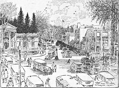 Artist's View of Lower Bedford Street