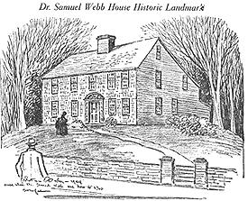 Sketch of Samuel Webb House