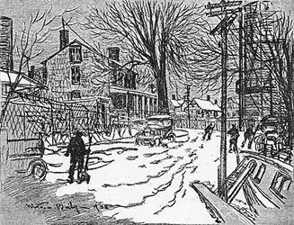 Section of Stamford's South End in Winter, click for full text